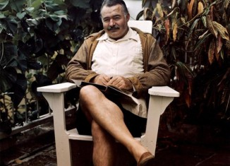 Ernest Hemingway at the Finca Vigia, 1947